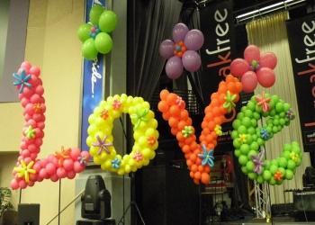 Композиции из воздушных шаров. СКИДКА к 14 февраля
