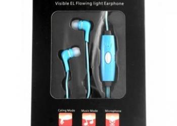 Светящиеся наушники - точечный свет, пластик, синие