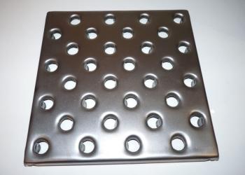 плитка стальная перфорированная