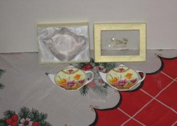 Сувенир-подарок 2 блюдечка под пакет-чай 11 - 8 см