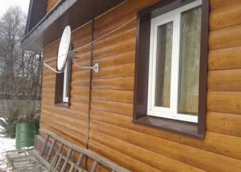 Производство металлического сайдинга (под дерево) для наружной облицовки стен