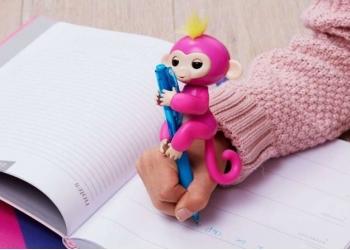 Игрушка робот интерактивная обезьянка на палец