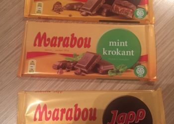 Шоколад Marabou из Финляндии (мята,швейцарский)