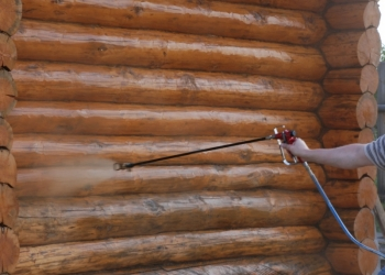 Ремонт деревянного фасада дома