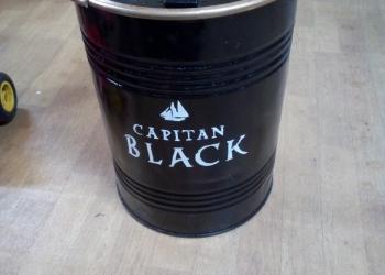 """Бочки железные дизайнерские 100 л """"Capitan Black"""""""