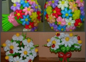 Подарки из воздушных шаров к 8 марта