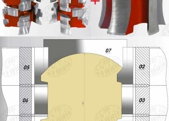 Фрезы для профилированного бруса с блок-хаусом имитацией бревна 90-140-190-240мм