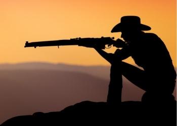 Современный тир в ковбойской тематике