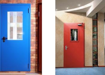 Противопожарные металлические двери EI-60 (ДПМ) остекленные
