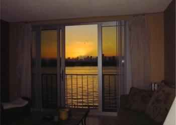 Квартира в Майами-Бич с красивым видом