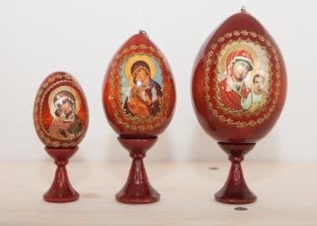 Деревянные яйца с образами