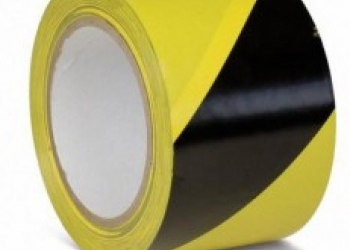 Лента сигнальная ЛО-250 чёрно-жёлтая 75мм/50мкм/250п.м