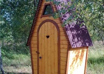 Туалет деревянный, дачный