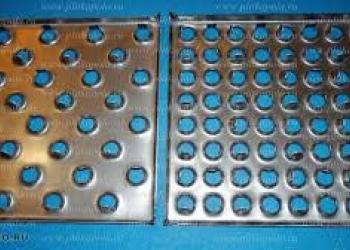 Металлическая перфорированная напольная плитка
