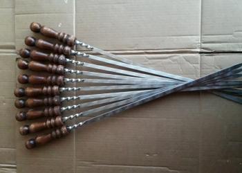 Шампура нерж.сталь, с деревянной ручкой, новые.