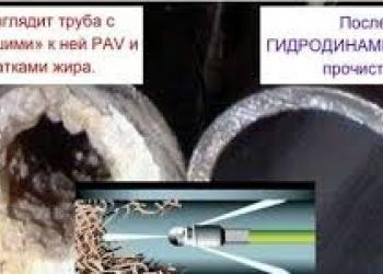Промывка систем канализации гидродинамической машиной
