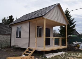 Каркасный дачный дом ДД-012 4х6м с террасой