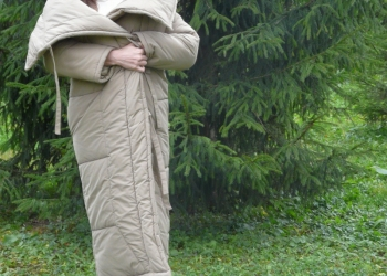 Пуховик-одеяло зимний женский стильный