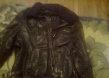 Кожаная куртка с мех.воротником от Armani (Италия, 54 размер)
