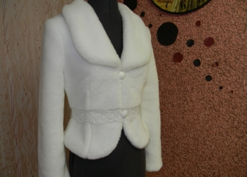 Свадебная шубка Жанет 38 размера