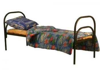 Кровати металлические одноярусные, для бытовок, кровати двухъярусные оптом