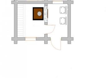 Баня 4х3 из бруса с оснащением под ключ