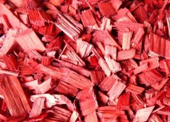Щепа декоративная (красная) 60 л.