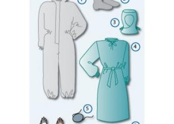 Противочумные одноразовые  комплекты одежды  1 -2 типа в полевых условиях