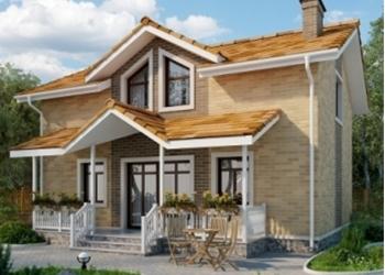 Двухэтажный дом на участке 10 соток