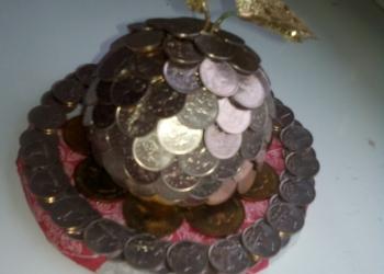 Ручная работа,денежное яблочко.амулет для приманивания денежек в ваш дом