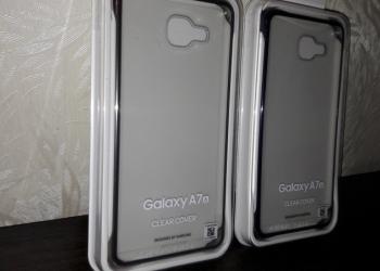Чехол clear cover на Galaxy A7 2016 года бампер