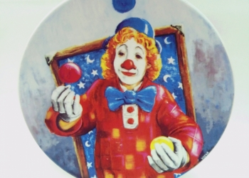 """Декоративная тарелка""""Клоуны"""" 190 мм"""