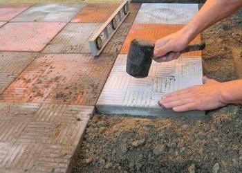 Укладка тротуарной плитки и бетонной брусчатки в Москве, Московской области и По