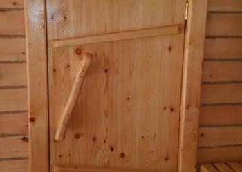 """Практичные двери в баню и сауну, двери в """"клин"""""""