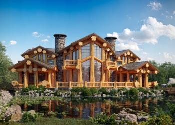 Уникальные дома из бревна ручной рубки