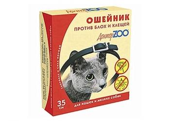 Ошейник от блох Доктор ZOO для кошек и собак