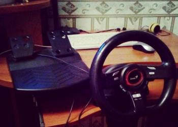 Руль для гоночных игр на ПК, Speed Wheel 5 Series