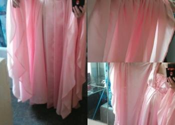 Праздничное розовое платье в пол 52-54