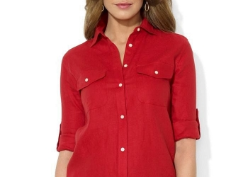 Рубашка Ralph Lauren лен новая оригинал р.М