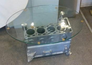 Стол журнальный  блок двигателя ВАЗ