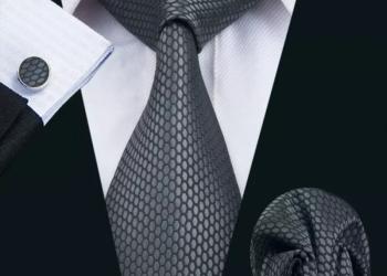 Мужской набор (галстук, платок и запонки) #3