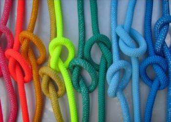 Веревка для спорта гимнастическая с люрексом и без.