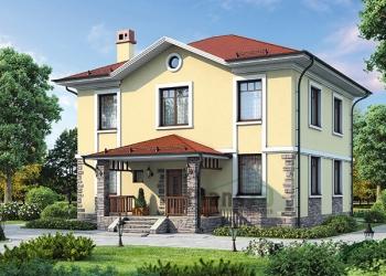 Проект каркасного дома 190 кв.м.