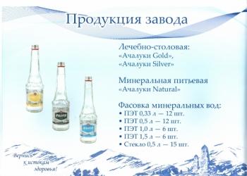"""Минеральная вода """" Ачалуки """" премиум"""