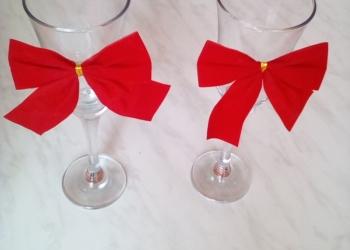Бокалы под шампанское для праздника свадьбы вечеринки