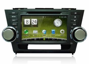 Головное устройство на Toyota Highlander Android 4,2|Wince 6,2 carpad duos
