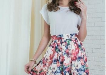 Новая модная юбка из сатин-денима