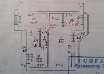 5-к квартира 166 мкв на 4-5-этаже в Твери.