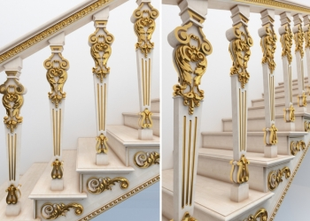 Эксклюзивные лестницы из дерева в Москве, в МО