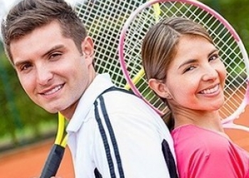 Мастер-класс по большому теннису для пары